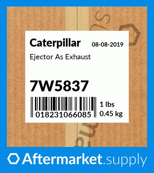 7W5837 Ejector A Fits Caterpillar 572R 7A 7S 7SU 7U D7R 57H