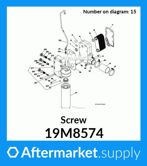 Engine Kits John Deere Original Equipment Screw #19M8574 ...