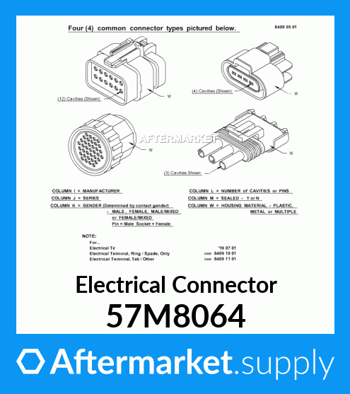 57M8064 - Electrical Connector fits John Deere | AFTERMARKET.SUPPLYAftermarket.Supply