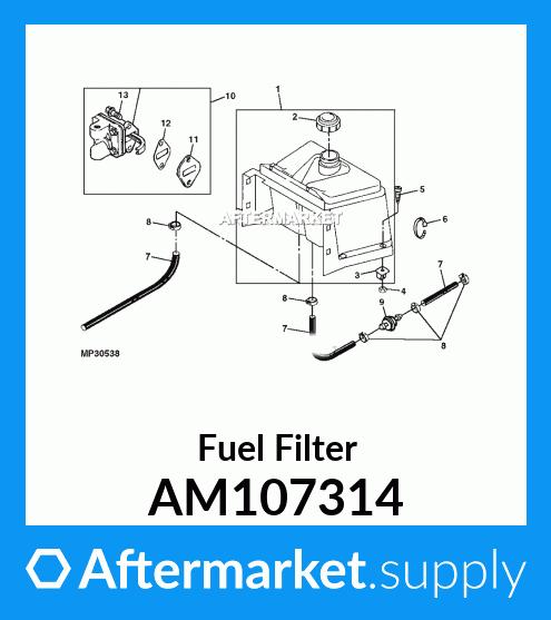 John Deere AM107314 Fuel Filter 170 180 JS 25 35 60 61 LT 133 155 STX 38 46