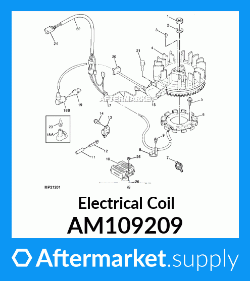 PARTSRUN Ignition Coil Module Fits Kawasaki Engine FC420V OEM#21121-2070 ID#ZH7157 Replace John Deere AM109209,ZF-IG-A00127