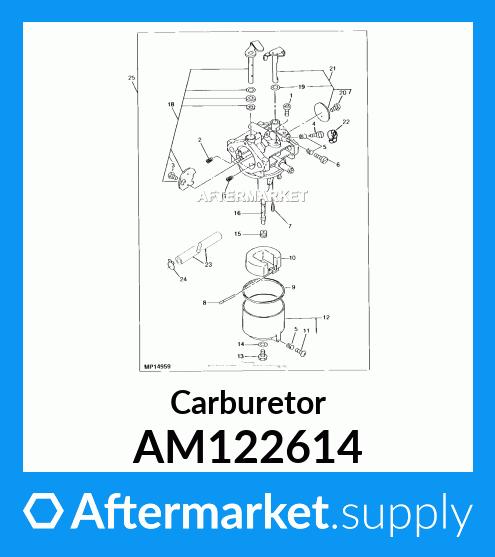 5YTR AM122614 Carburetor for John Deere LX178 Carb 32045 32226 ...
