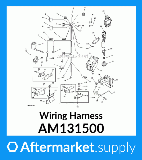 AM131500 - Wiring Harness fits John Deere | AFTERMARKET.SUPPLY