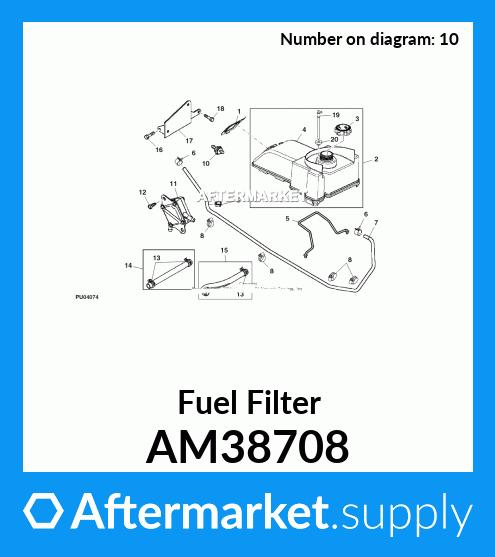 [EQHS_1162]  AM38708 - Fuel Filter fits John Deere | AFTERMARKET.SUPPLY | Trs21 Snowblower Parts Fuel Filter |  | Aftermarket.Supply