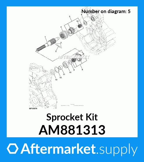 John Deere Original Equipment Sprocket Kit #AM881313