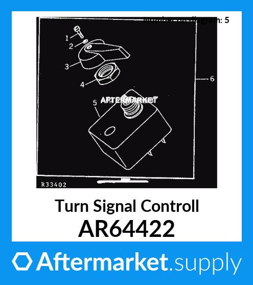 ar64422 turn signal controll fits john deere. Black Bedroom Furniture Sets. Home Design Ideas