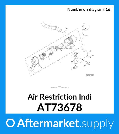 John Deere Original Equipment Air Restriction Indicator #MT6738 ...
