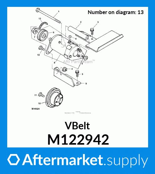 John Deere Original Equipment V-Belt #M122942
