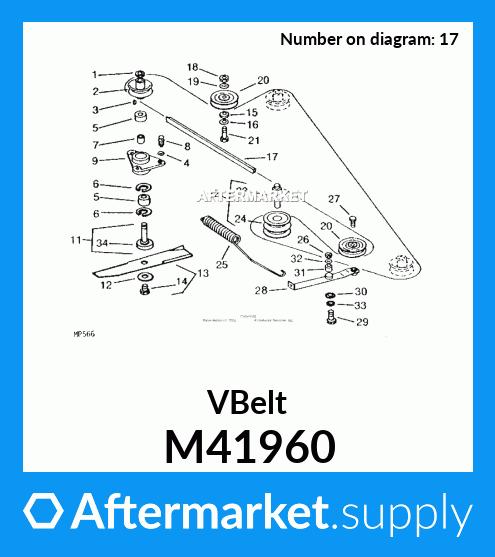 "fits John Deere 110 112 212 214 216 46/"" 47/"" Mower Deck Belt 1//2x102/"" M41960"