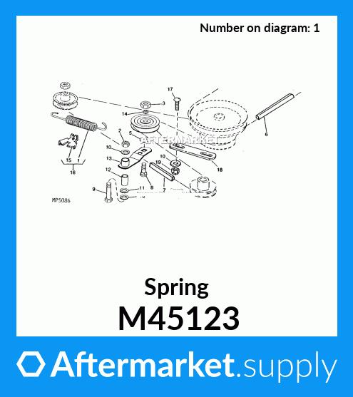 John Deere Original Equipment Extension Spring #M45123
