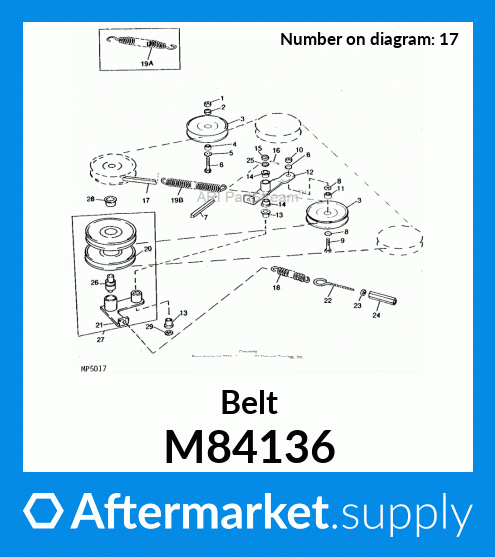 1 Number of Band Rubber D/&D PowerDrive M84136 BOLENS Kevlar Replacement Belt