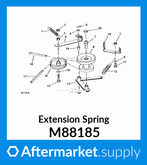 John Deere Original Equipment Extension Spring #M88185 Power ...