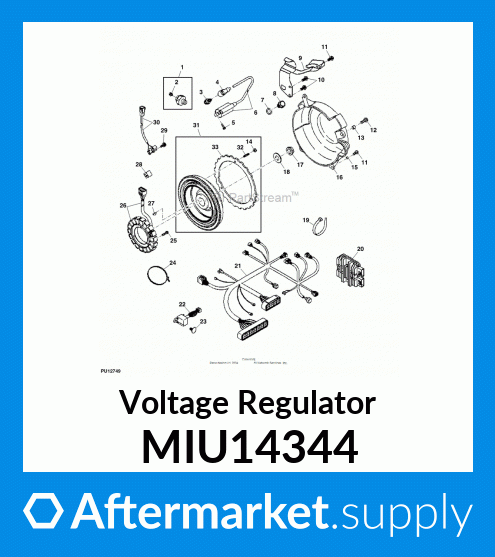 Tuzliufi Replace Voltage Regulator Rectifier John Deere MIU14344 MIU11409 XUV620I XUV625I Gators New Z382