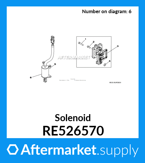 Solenoids zt truck parts Solenoid 12V RE526570 for John Deere ...