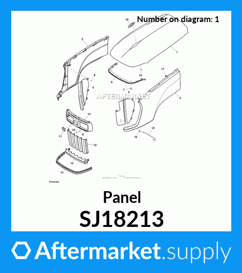 Sj18213 Panel Fits John Deere Aftermarket Supply