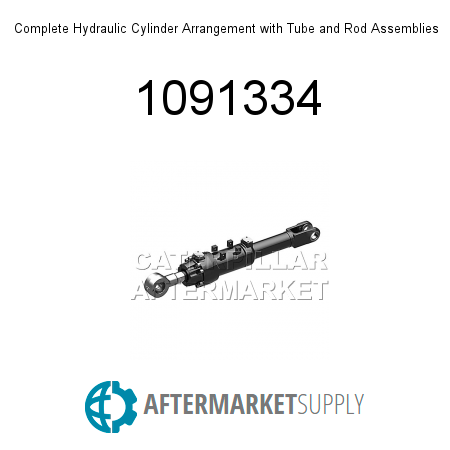 Complete Hydraulic Cylinder Arrangement with Tube and Rod Assemblies - 1091334
