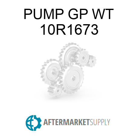 PUMP GP WT - 10R1673