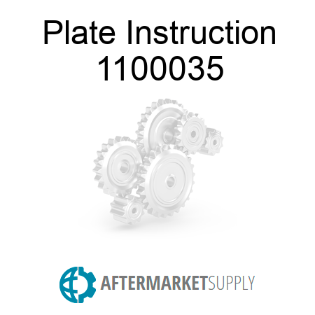 Plate Instruction 1100035