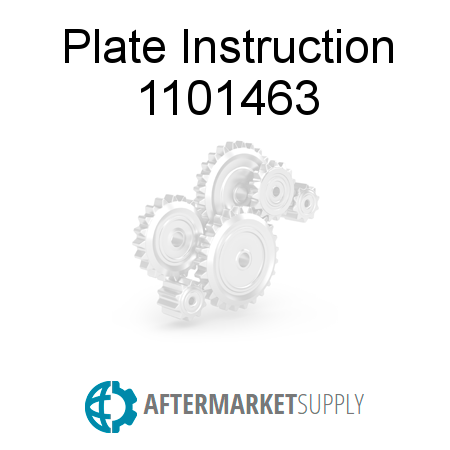 Plate Instruction 1101463