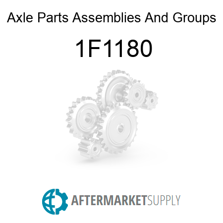Axle Parts, Assemblies And Groups 1F1180