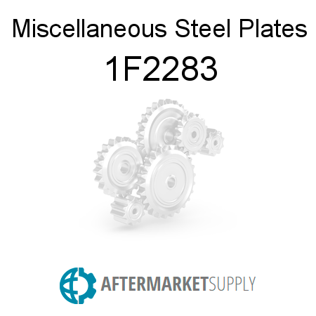 Miscellaneous Steel Plates - 1F2283