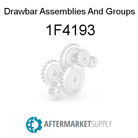 Drawbar Assemblies And Groups - 1F4193