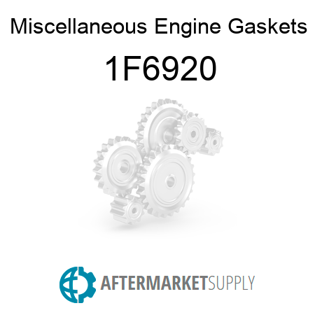 Miscellaneous Engine Gaskets - 1F6920
