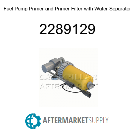 Fuel Pump Primer and Primer Filter with Water Separator - 2289129