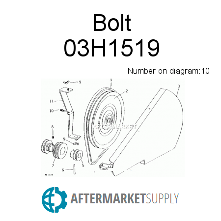 03h1519 Bolt Fits John Deere Aftermarketsupply. John Deere Bolt. John Deere. John Deere Wg48a Lawn Mower Electrical Diagram At Scoala.co