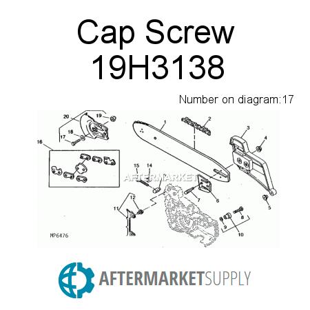 19h3138 cap screw fits john deere aftermarket supply John Deere Mowers