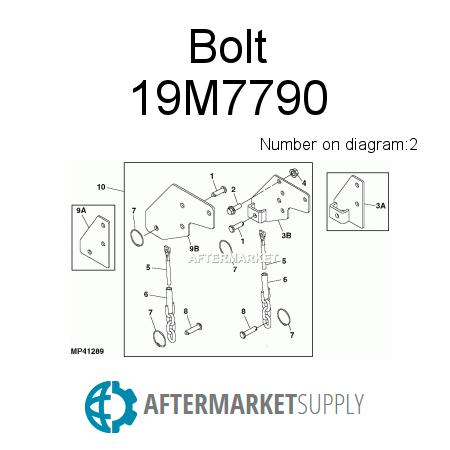 19m7790.2.ab6x450x450 19m7790 bolt fits john deere aftermarket supply