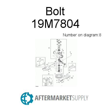19m7804 Bolt Fits John Deere Aftermarketsupply. John Deere Bolt. John Deere. John Deere 1023e Parts Diagram Steering Cylinder Hose At Scoala.co