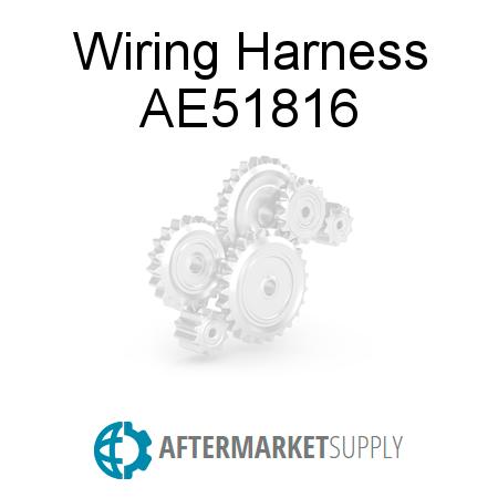 Ae51816 Wiring Harness Fits John Deere Aftermarketsupply. John Deere Wiring Harness. John Deere. John Deere 466 Round Baler Wiring Harness At Scoala.co