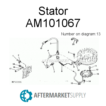 AM101067 - Stator on