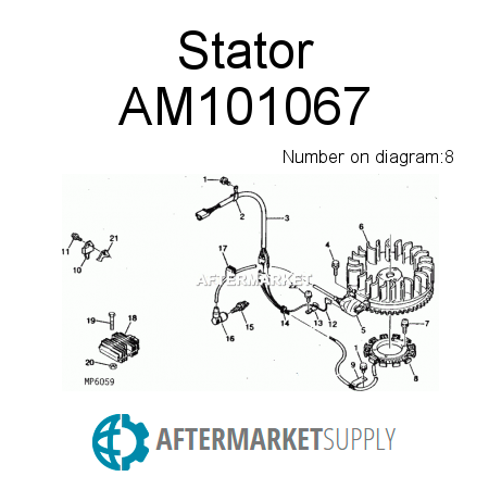 AM101067 - Stator fits John Deere | AFTERMARKET.SUPPLY on john deere gt262 voltage regulator, john deere l130 voltage regulator, john deere l100 voltage regulator, john deere x304 voltage regulator, john deere lx279 voltage regulator, john deere f525 voltage regulator, john deere mower voltage regulator, john deere la115 voltage regulator, john deere x320 voltage regulator, john deere l120 voltage regulator, john deere lx277 voltage regulator, john deere stx38 voltage regulator, john deere lt155 voltage regulator, john deere lx176 voltage regulator, john deere lx188 voltage regulator, john deere gt235 voltage regulator, john deere lx288 voltage regulator, john deere f725 voltage regulator, john deere 180 voltage regulator, john deere lt133 voltage regulator,