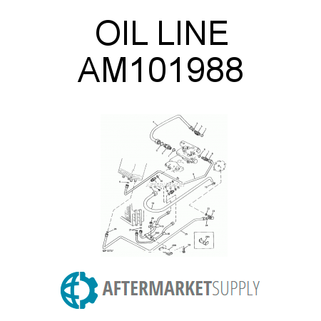 am101988.0.7e5x450x450 nos john deere oem compact utility tractor hydraulic oil line 655