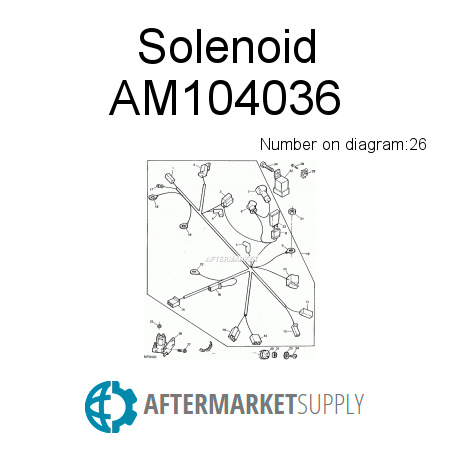 AM104036 - Solenoid fits John Deere | AFTERMARKET.SUPPLY on john deere lx176 wiring diagram, john deere lx172 wiring diagram, john deere mower wiring diagram, john deere lx173 wiring diagram, john deere 160 wiring schematic, john deere 110 wiring diagram, john deere electrical schematics, john deere 320 wiring-diagram, john deere gt225 wiring diagram, john deere 445 wiring-diagram, john deere ignition switch diagram, john deere 345 wiring-diagram, john deere 322 wiring-diagram, john deere lx186 wiring diagram, john deere ignition wiring diagram, john deere la145 wiring schematic, john deere 425 wiring-diagram, john deere lx255 wiring diagram, john deere electrical diagrams, john deere stx38 wiring schematic,