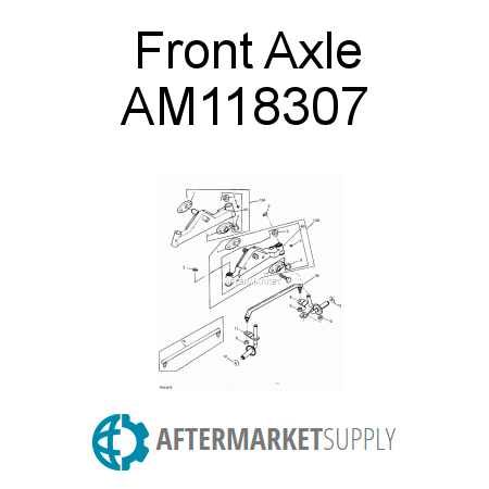 am118307.0.5f8x450x450 am118307 front axle fits john deere aftermarket supply