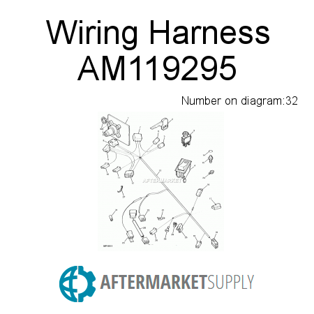 am119295 wiring harness fits john deere aftermarket supply rh aftermarket supply
