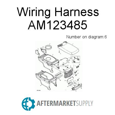am123485 wiring harness fits john deere aftermarket supply rh aftermarket supply John Deere LX277 john deere gt275 engine rebuild kit