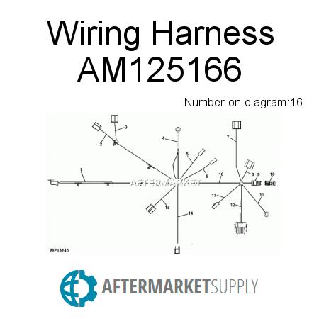 am125166 wiring harness fits john deere aftermarket supply scag wiring harness john deere wiring harness