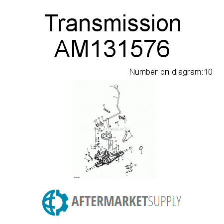 am131576.10.822x450x450 am131576 transmission fits john deere aftermarket supply