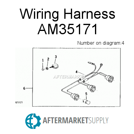 am35171 wiring harness fits john deere aftermarket supply rh aftermarket supply John Deere Electrical Diagrams John Deere 4020 Wiring Harness