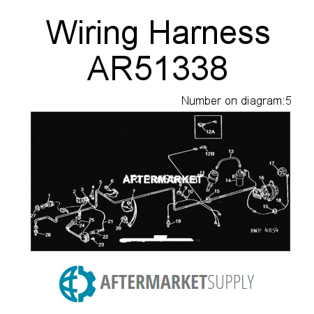 ar51338 wiring harness fits john deere aftermarket supply rh aftermarket supply John Deere 4020 Wiring -Diagram Lights Fenders in For John Deere L118 Wiring Harness