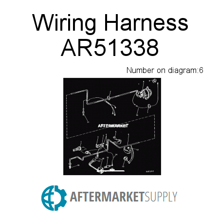 ar51338 wiring harness fits john deere aftermarket supply rh aftermarket supply John Deere B Wiring John Deere S82 Mower Wiring