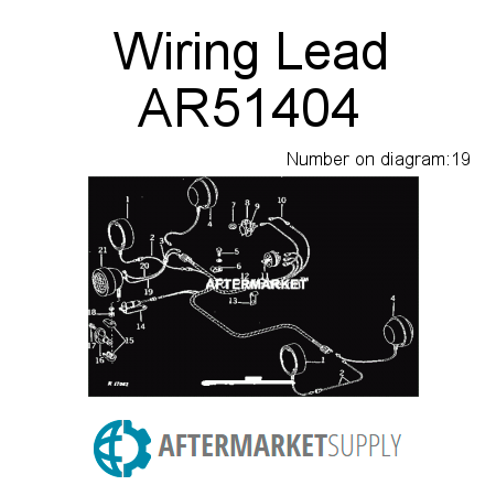 ar51404 wiring lead fits john deere aftermarket supply rh aftermarket supply