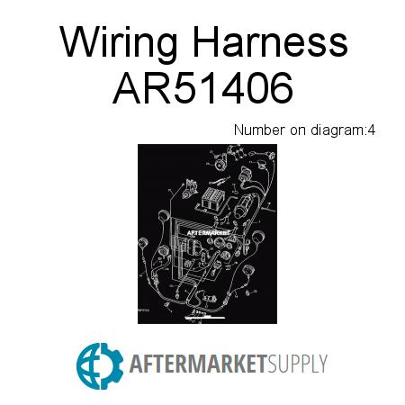 ar51406 wiring harness fits john deere aftermarket supply rh aftermarket supply