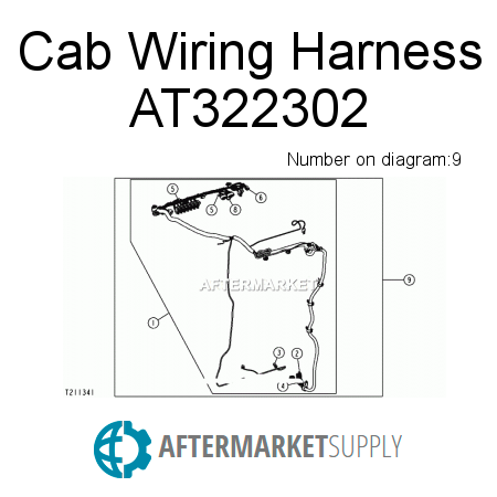317 wiring at322302 - cab wiring harness fits john deere |  aftermarket supply on blaw knox wiring
