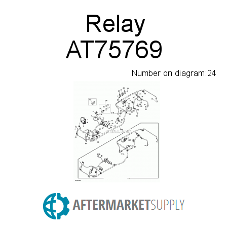 AT75769 Relay fits John Deere AFTERMARKETSUPPLY