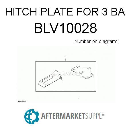 BLV10028 - HITCH PLATE FOR 3 BA fits John Deere | AFTERMARKET.SUPPLY